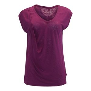 Bar III Boho Sunset Twist Slub T-Shirt Magenta Fla